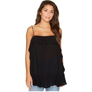 Free People Intimately Black Sleeveless Top Size M